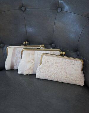 Davie & Chiyo | Clutch Collection Champagne Clutch Set Ivory, Champagne Clutches + Handbag