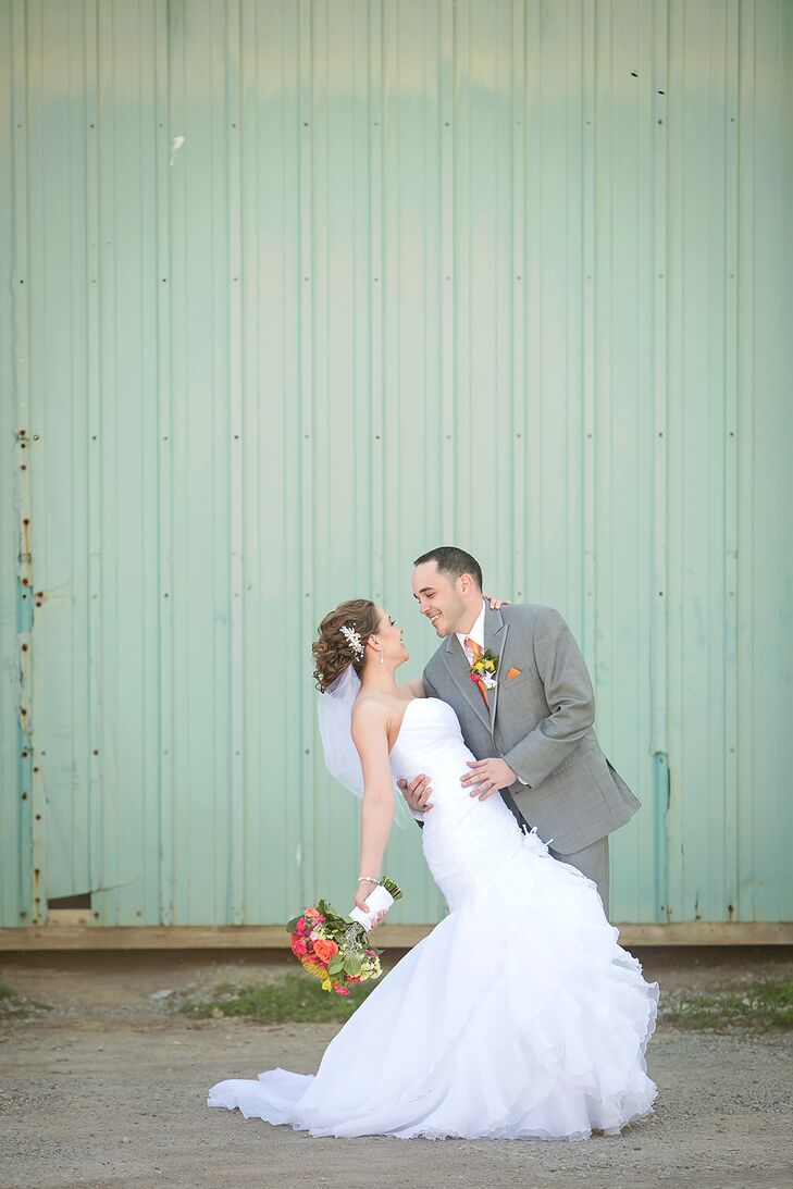 Bride and Groom at Caribbean Themed Wedding