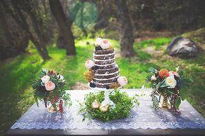 Rustic Floral Cake Display