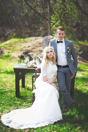 Gray Tailored Groom Suit