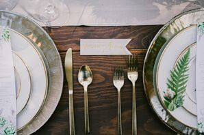 Rustic, Elegant Gold Plate Settings