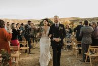 "Christina and Jason escaped to the West Texas desert for an intimate wedding with loved ones. ""I love the desert feel that West Texas has to offer. I"