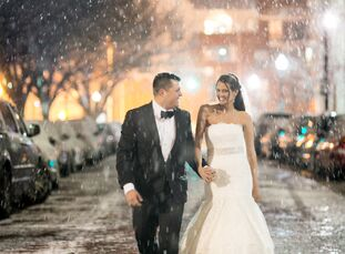 Catharine Paules (29 and a physician-infectious diseases fellow) and Randall Bielski (29 and a Project Manager at Under Armour) met at the wedding of