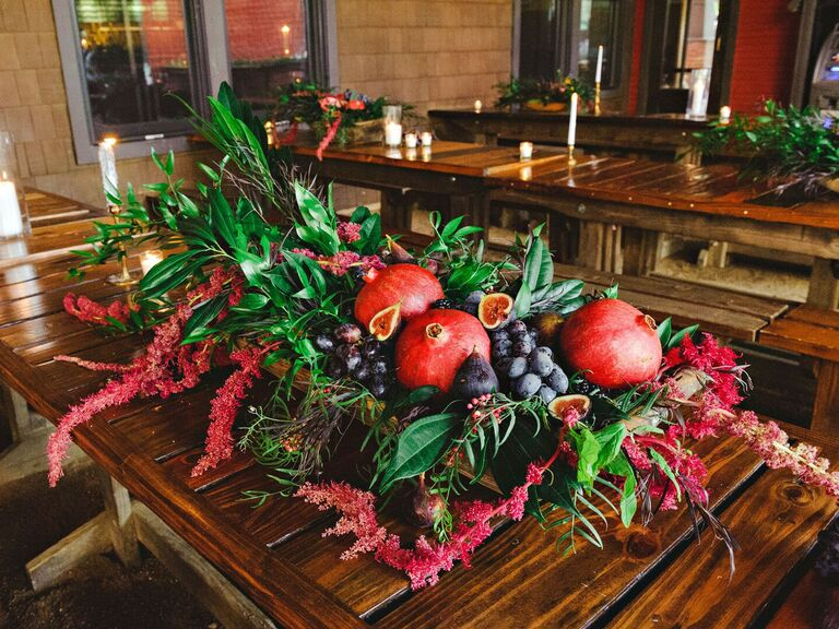 Wedding Centerpieces Seasonal Fruit