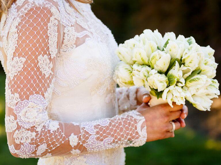 Tulip parrot bridal bouquet