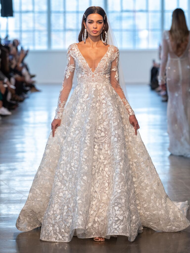 Berta Spring 2020 Bridal Collection long-sleeve ball gown wedding dress