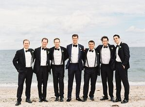 Black Shawl Collar Tuxedos With Black Bow Ties