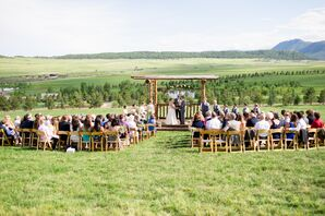 Rustic Wooden Ceremony Pergola