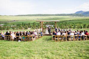 Rustic Wooden Ceremony Pergola