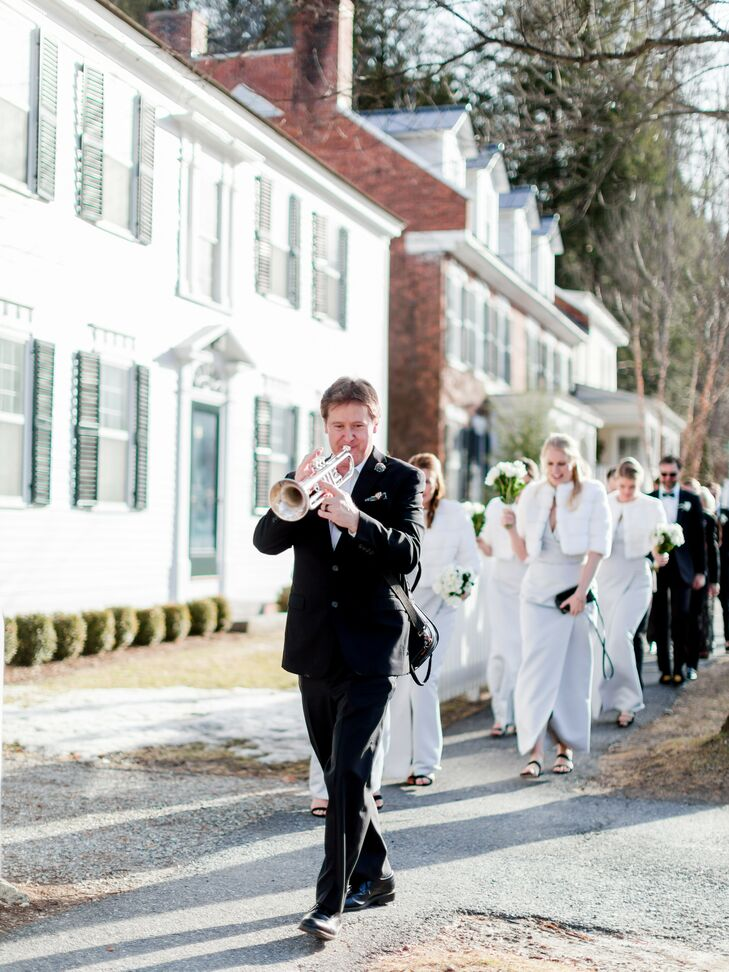 Second Line Parade During Wedding at The Woodstock Inn and Resort in Vermont