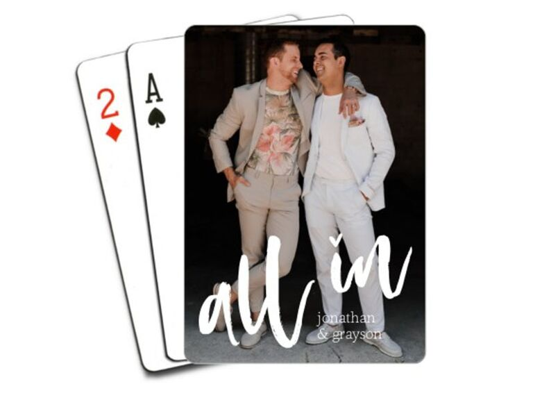 playing card wedding favors