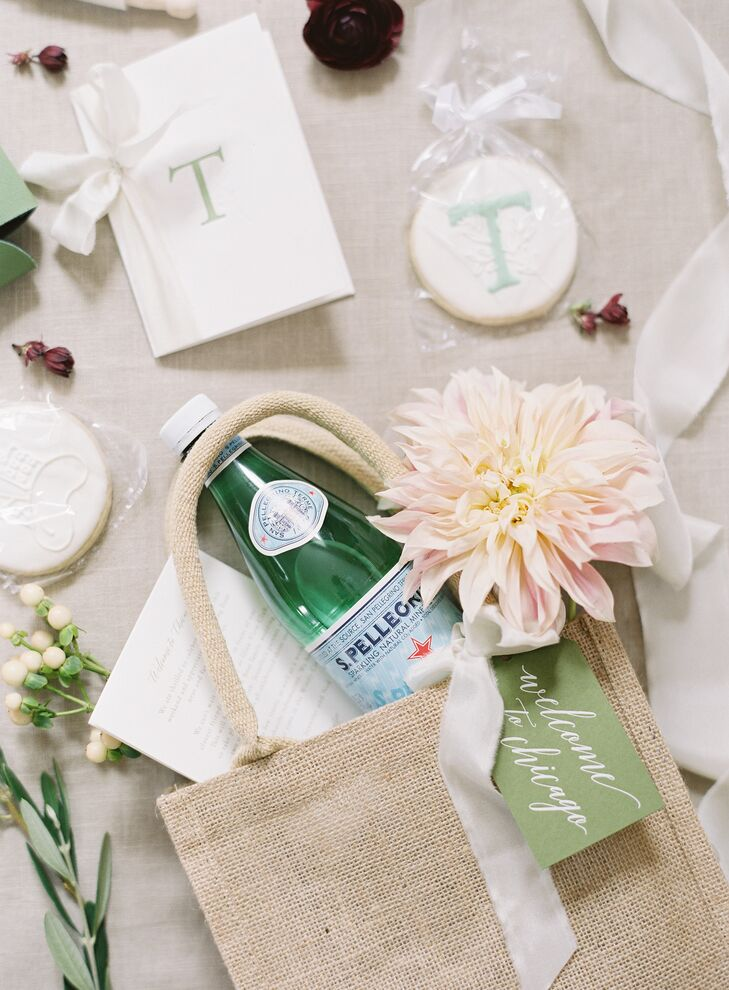Preppy Welcome Bag with Monogrammed Cookie Favors