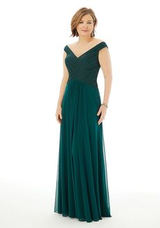 MGNY 72204 Gray Mother Of The Bride Dress