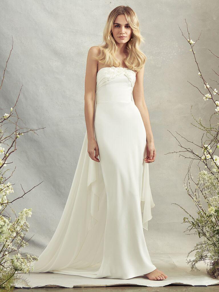 Savannah Miller Spring 2020 Bridal Collection strapless sheath wedding dress