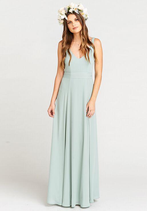 43876fdd989f Show Me Your Mumu Jenn Maxi Dress - Silver Sage Crisp V-Neck Bridesmaid  Dress