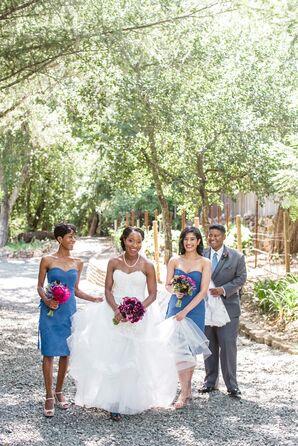 Blue Monique Lhuillier Bridesmaid Dresses