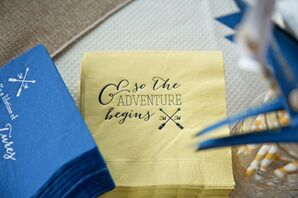 Personalized Travel-Inspired Cocktail Napkins