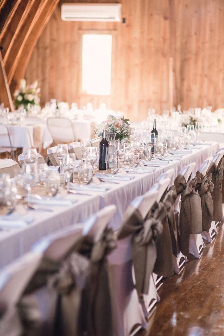 Rustic Wedding Reception Seating