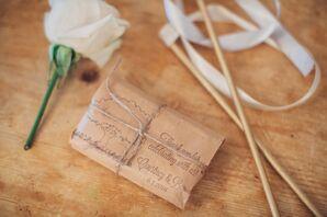 New Orleans Coffee Wedding Favors in Custom Paper Bags