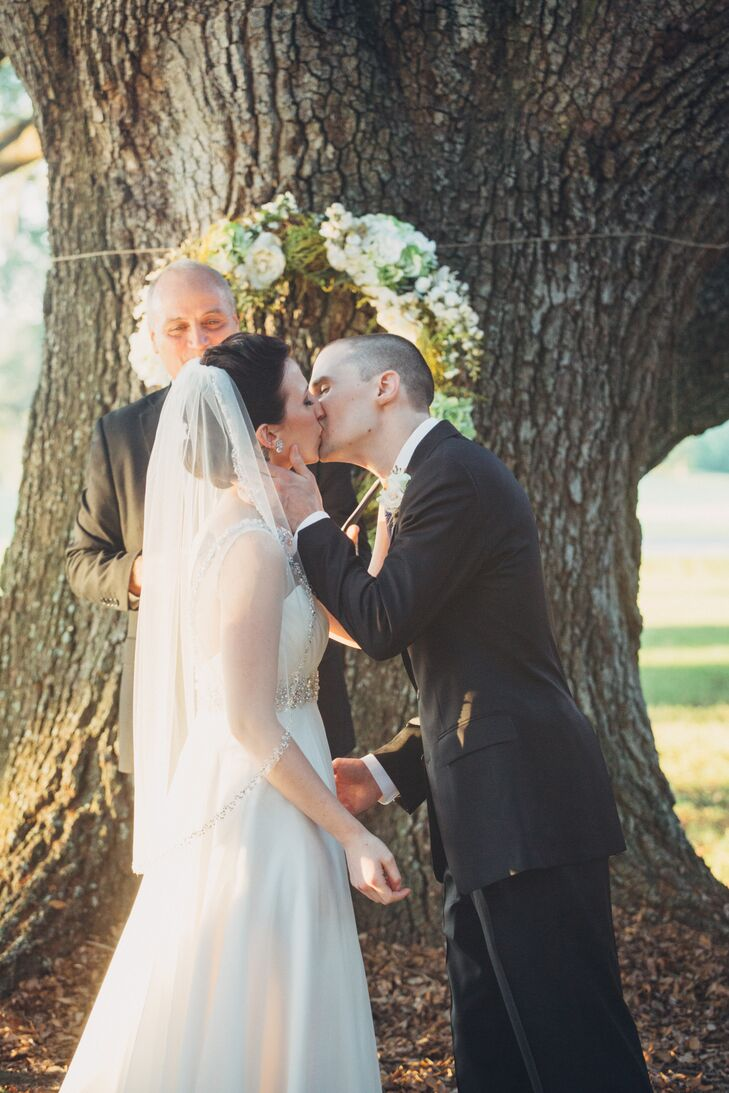 Courtney and Ben First Kiss in Audubon Park