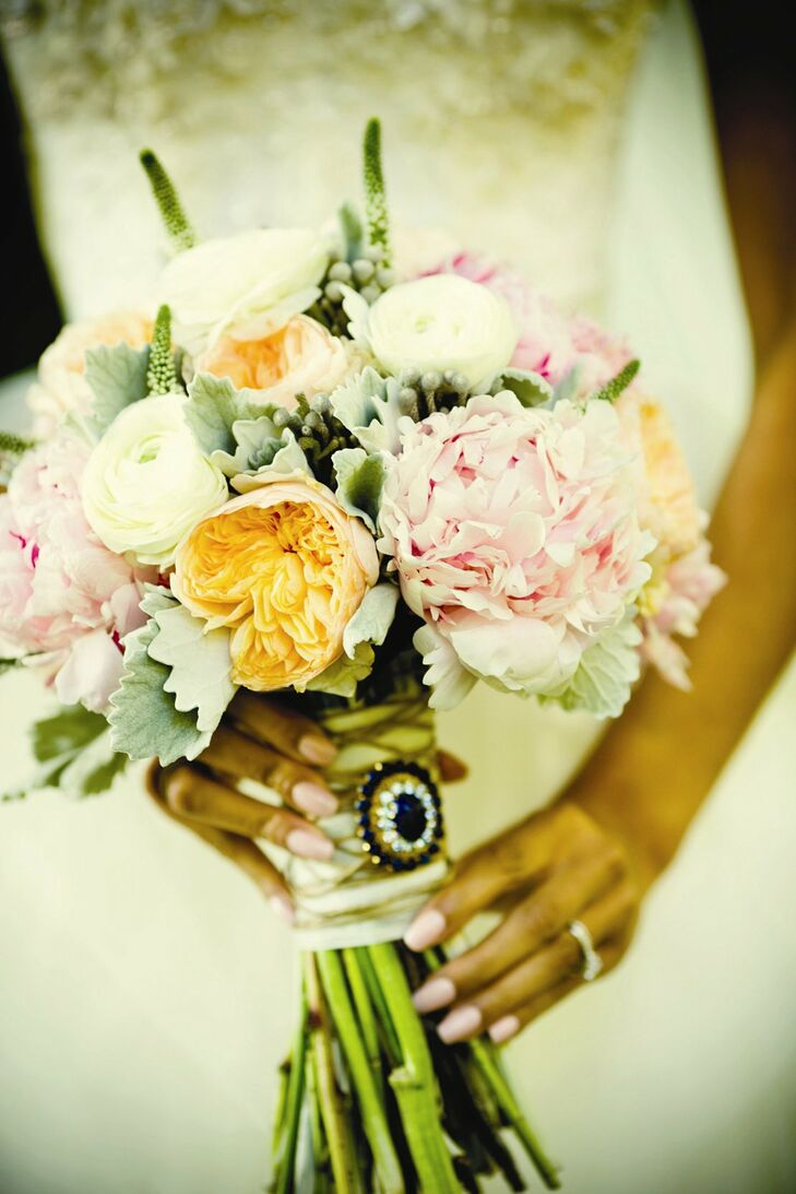 Peony and Ranunculus Bridal Bouquet