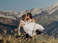 Montana bohemian mountain wedding