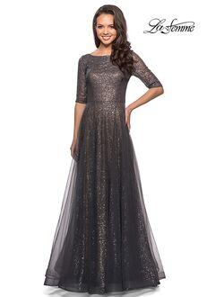 La Femme Evening 27016 Gray Mother Of The Bride Dress