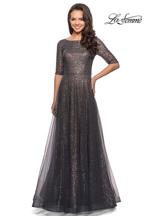 La Femme Evening 27016 Gray Mother Of The Bride Dress