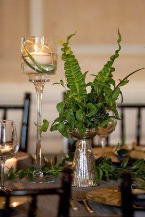 Fern, Berry and Fresh Herb Centerpieces