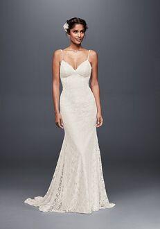 David's Bridal Galina Style WG3827 Sheath Wedding Dress