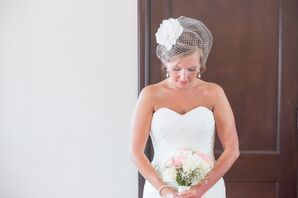 Vintage Birdcage Veil and Pearl Necklace