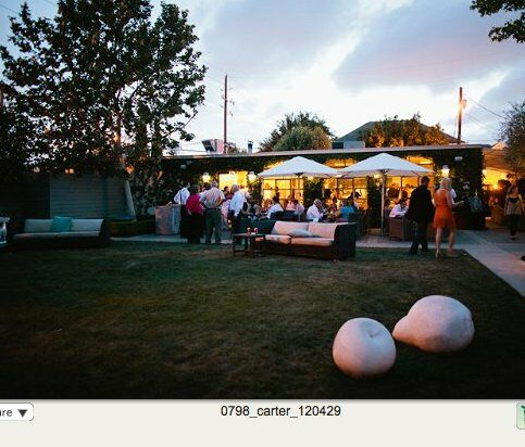 An indoor-outdoor party without assigned seating kept the reception relaxed.