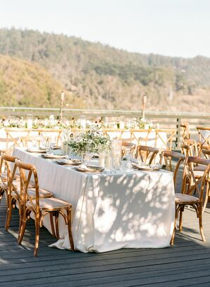 Reception Décor at Timber Cove Resort in Jenner, California
