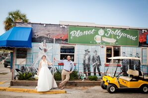 Folly Beach Bride and Groom Photos