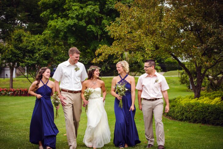 517ac26b3a7 Kelly loved the look of navy and peach together and thought the colors  paired perfectly with