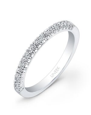 Uneek Fine Jewelry UWB019 White Gold Wedding Ring