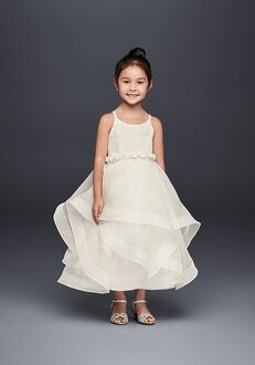 David's Bridal Flower Girl David's Bridal Style WG1371 Ivory Flower Girl Dress