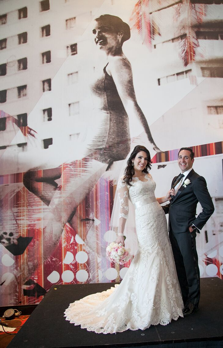 Shira Bramnick, a consultant, 29, and Yoni Macagon, a financial analyst, 29, had a traditional Modern Jewish Orthodox Wedding in Miami, Florida. With