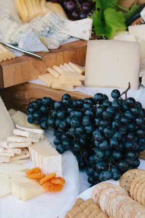 Delcious Cheese and Blueberry Plate