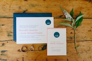Navy and White Invitation Suite