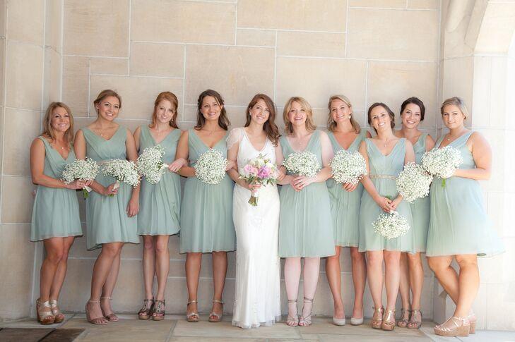 J.Crew Sage Green Bridesmaid Dresses