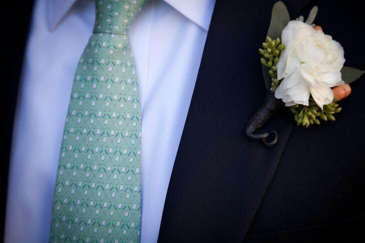 Golf Club Printed Groom's Tie