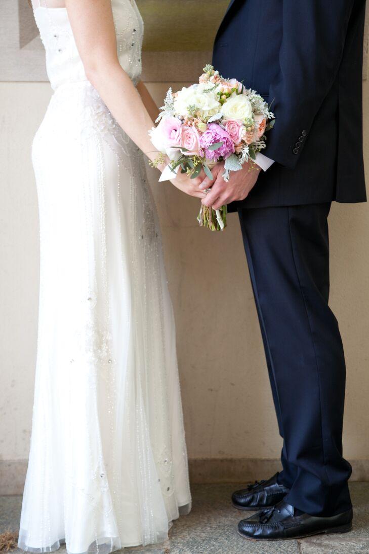 Embellished Jenny Packham Wedding Dress