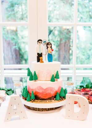 National-Park-Themed Wedding Cake