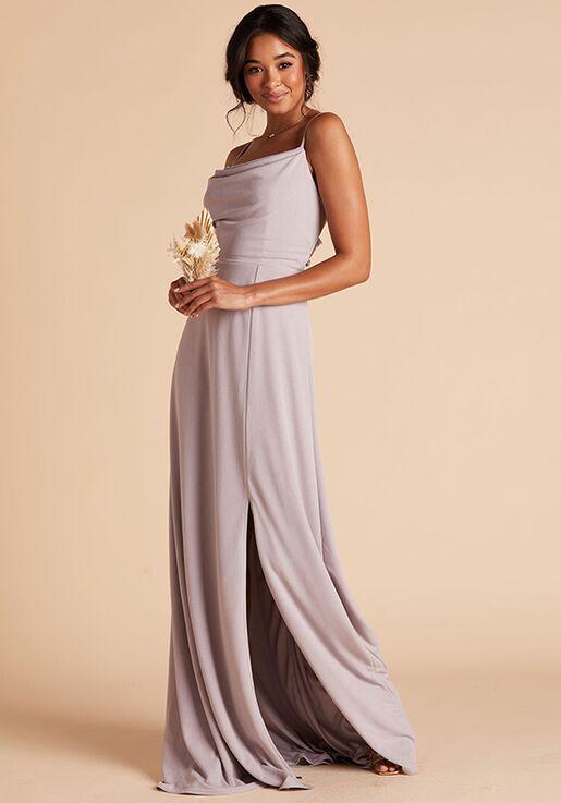 Birdy Grey Ash Crepe Dress in Lilac Scoop Bridesmaid Dress