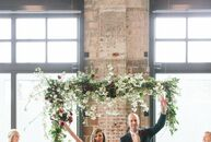 Theresa Mills-Price and David McGrew's spring wedding combined loose, textured florals; natural accents; and sleek urban elements for an industrial-me
