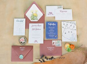 Custom Invitations with Rustic Design and Calligraphy