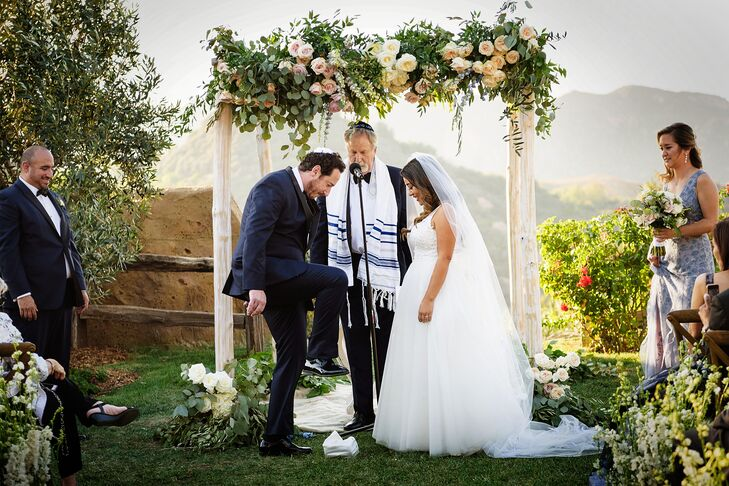 Romantic Eucalyptus and Garden Rose Chuppah