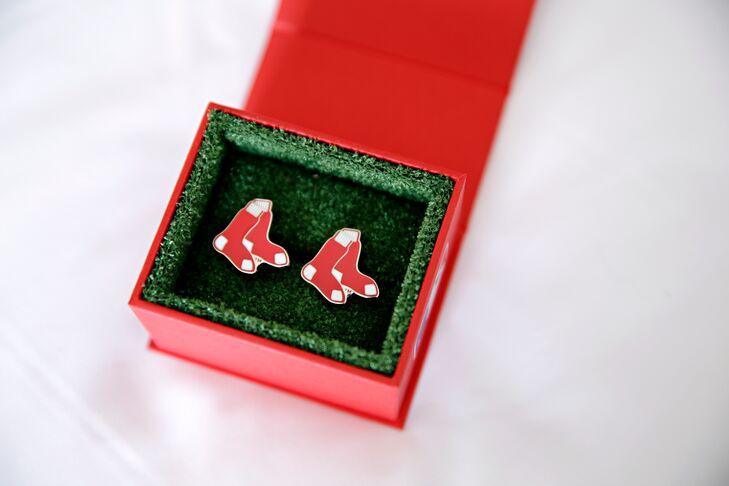 Baseball Red Sox CuffLinks in Box