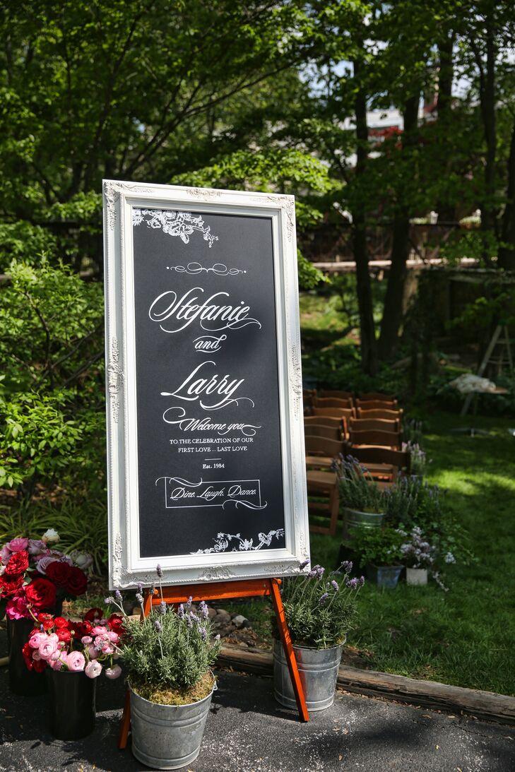 Black Chalkboard Wedding Welcome Sign